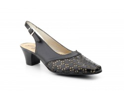 Shoes Woman Black Leather Chopped Heel JAM JAM-501849,90 €