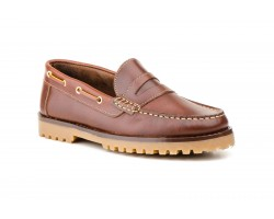 Nautical Moccasin Men Leather Pull Brown Mask Sachini SACHINI-214649,00 €