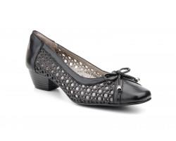 Zapatos Mujer Piel Picado Lazo Borlas Tacón JAM-5129 49,90€