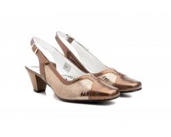 Zapatos Mujer Piel Bronce Tacón JAM-5512 54,90€