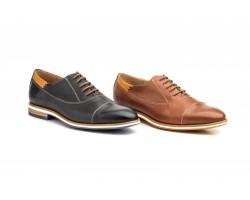 Zapatos Oxford Hombre Piel Napa Cuero Polisander Azul Tinta DILUIS-2135 59,90€