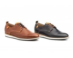 Zapatos Derby Hombre Piel Napa Cuero Azul DILUIS-4210 59,90€