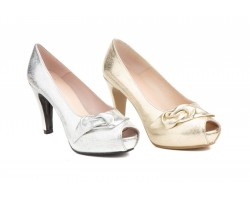 Zapatos Fiesta Mujer Tornado Plata Platino JENNIFER-PALLARES-72002 59,90€