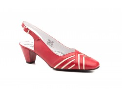 Shoes Woman Leather Nude Navy Red White Heel JAM-550149,90 €