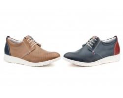 Zapatos Derby Hombre Piel Marino Taupe Cordones PEPE-AGULLO-8710 49,90€