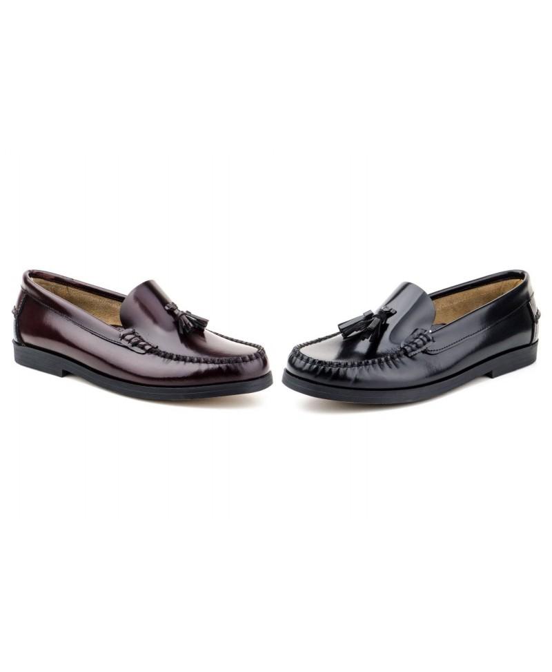 Zapatos y complementos IBERICO 1003 Mocasín Castellano Piel Florentic y Piso Cuero para Hombre