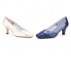 Shoes Woman Skin Blue Platinum Snake Heel JAM JAM-520949,90 €