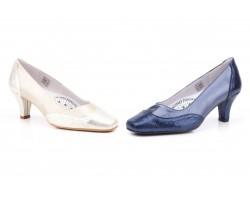 Zapatos Mujer Piel Azul Platino Serpiente Tacón JAM-5209 49,90€