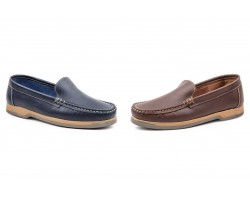 Nautical Moccasin Man Leather Pull Brown Marino Iberico IBERICO-50044,90 €