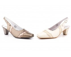 Zapatos Mujer Piel Cobre Salinas Tacón JAM-5220 59,90€