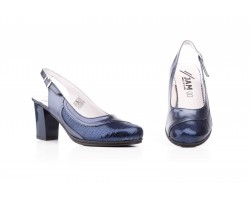 Women's Shoes Navy Leather Platform Heel Buckle JAM JAM-522249,00 €