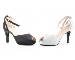 Zapatos Mujer Luminor Negro Plata Plataforma Tacón Alto JENNIFER-PALLARES-72023 59,90€
