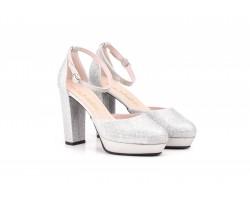 Zapatos Mujer Luminor Plata Plataforma Tacón JENNIFER-PALLARES-73004 59,90€