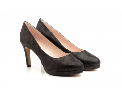 Zapatos Mujer Cristallo Negro Plataforma Tacón JENNIFER-PALLARES-73005 59,90€