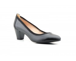 Women's Shoes Black Leather Heel Large Sizes Zancadas JAM-380453,90 €
