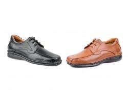 Zapatos Derby Crispinos Hombre Piel Negro Coñac CACTUS-60121XXL 69,90€