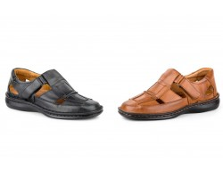 Sandals Crispinos Man Black Leather Cognac CACTUS-4015XXL64,90 €
