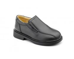 Zapatos Niño Piel Negro Elásticos Colegial 1016-NEGRO 44,90€