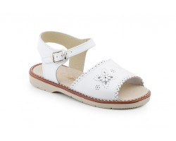 Sandals Girl Leather White Flower Buckle 1248-BLANCO29,90 €