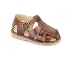 Boy Leather Sandals Leather Buckle 3129-CUERO-MARINO29,90 €