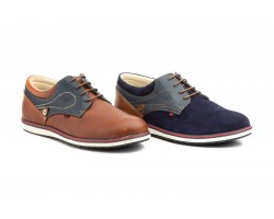Men's Leather Shoes Navy Split Napa Camel Magistral MAGISTRAL-94049,00 €