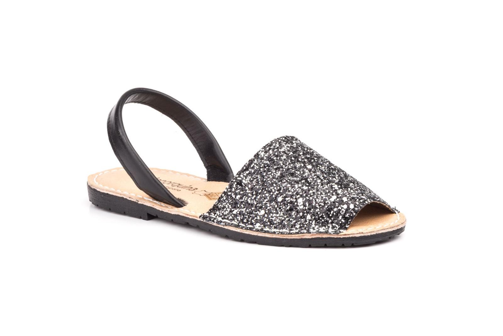 Avarcas Menorquinas Mujer Glitter Multi Plata Marino Negro Acolchada MENORQUINAS-670024,90€