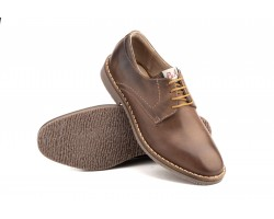 Derby Shoes Man Brown Leather Black Laces Pepe Agulló PEPE-AGULLO-151649,90 €