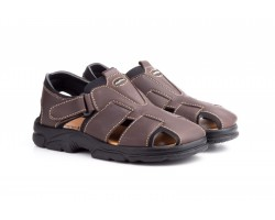 Sandalias Californianas Men Brown Leather Morxiva MORXIVA-700339,90€