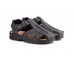 Sandalias Californianas Men Black Leather Morxiva MORXIVA-701839,90€