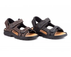 Sandalias Californianas Men's Leather Black Brown Morxiva MORXIVA-700939,90 €