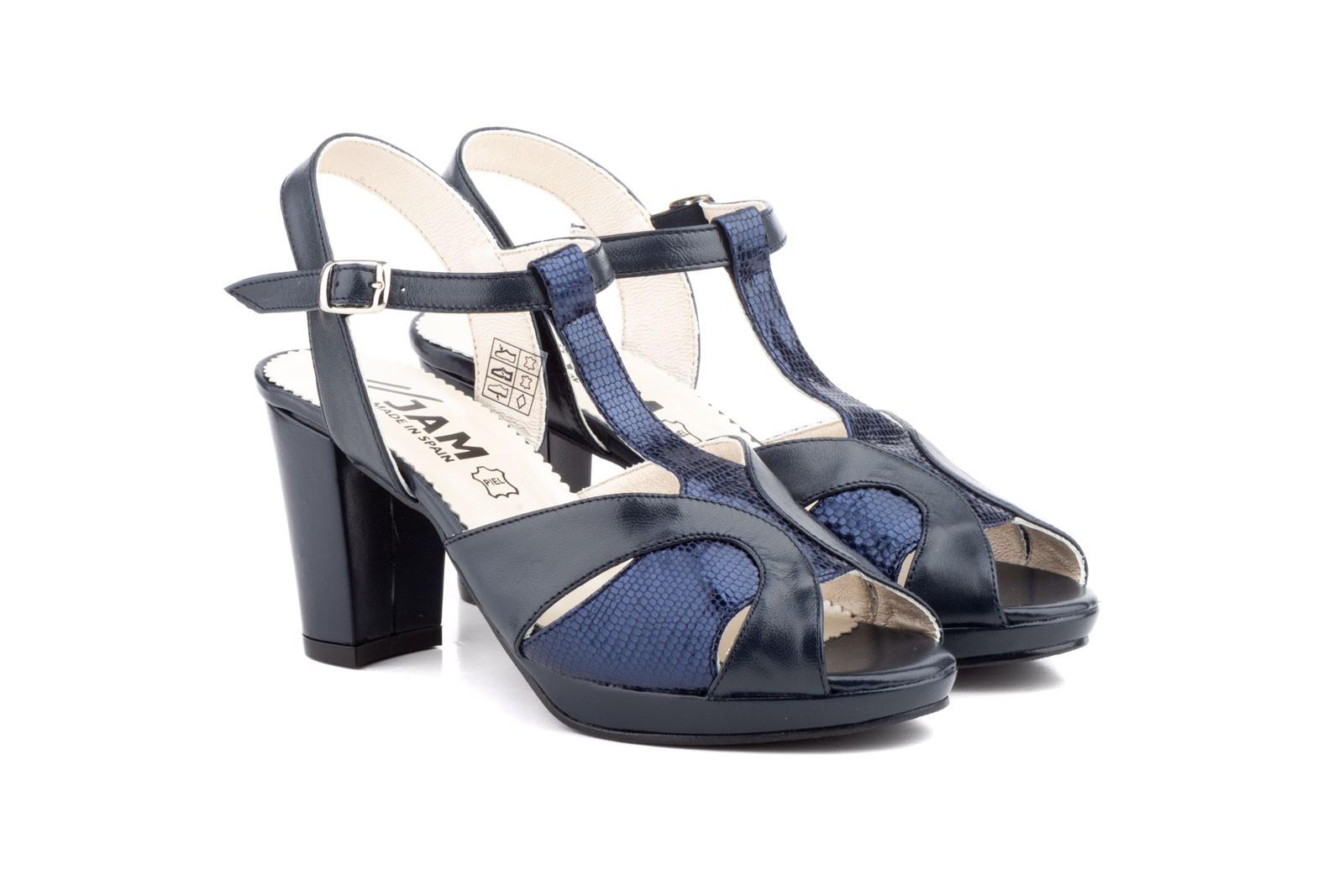 Shoes Woman Sea Leather Platform Heel JAM JAM-551559,90€