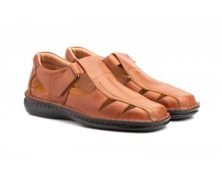 Sandals Men Leather Cognac Stitched Billy Cactus CACTUS-6031359,90 €