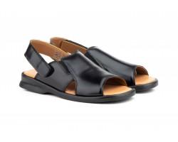 Sandalias Hombre Piel Negro Tipo Velcro Good Ibérico IBERICO-140534,90€