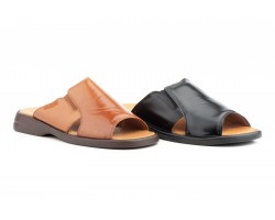 Sandals Man Shoe Leather Black Leather Good Ibérico IBERICO-150234,90 €