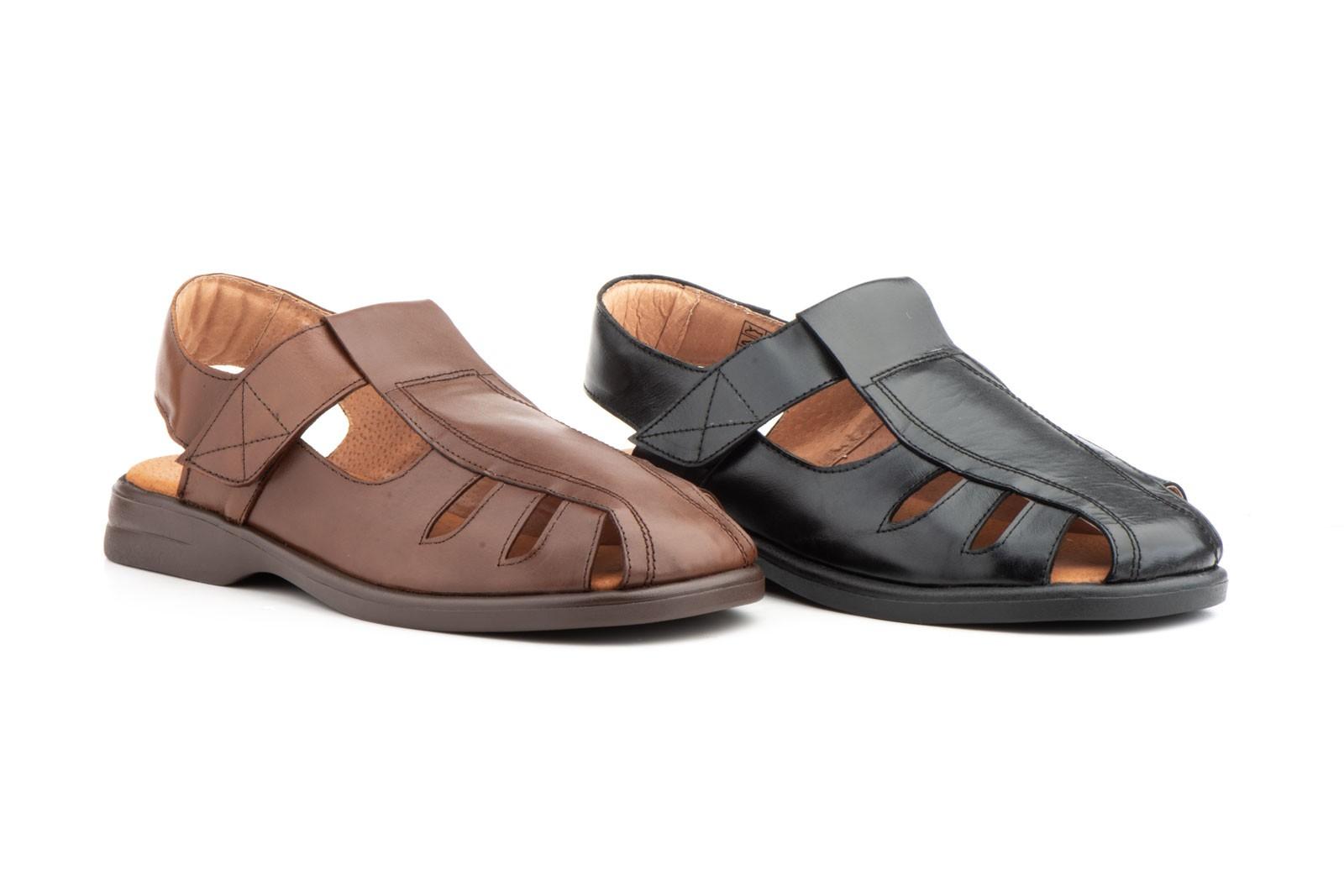 1f6d9bbcfc8 Men s Sandals Black Leather Type Velcro Good Ibérico IBERICO-140939
