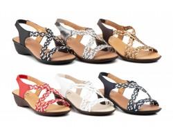 Sandalias Mujer Piel Trenzado Elástico ALTO-ESTILO-323 29,90€
