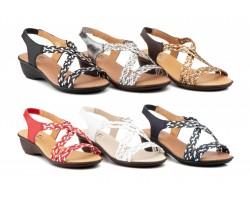 Sandals Women Braided Leather Elastic High Style ALTO-ESTILO-32329,90 €
