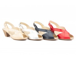Women Sandals Red Sea Leather Buckle Heel JAM CUTILLAS-65839,90 €
