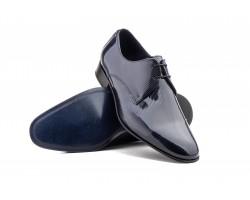 Zapatos Hombre Derby Charol Negro Marino Cordones CARLO-GARELLI-5009 59,50€