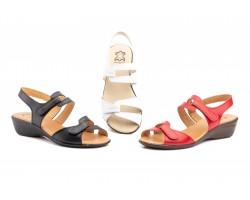 Sandalias Mujer Piel Colores Cuña Velcro ALTO-ESTILO-454 34,90€