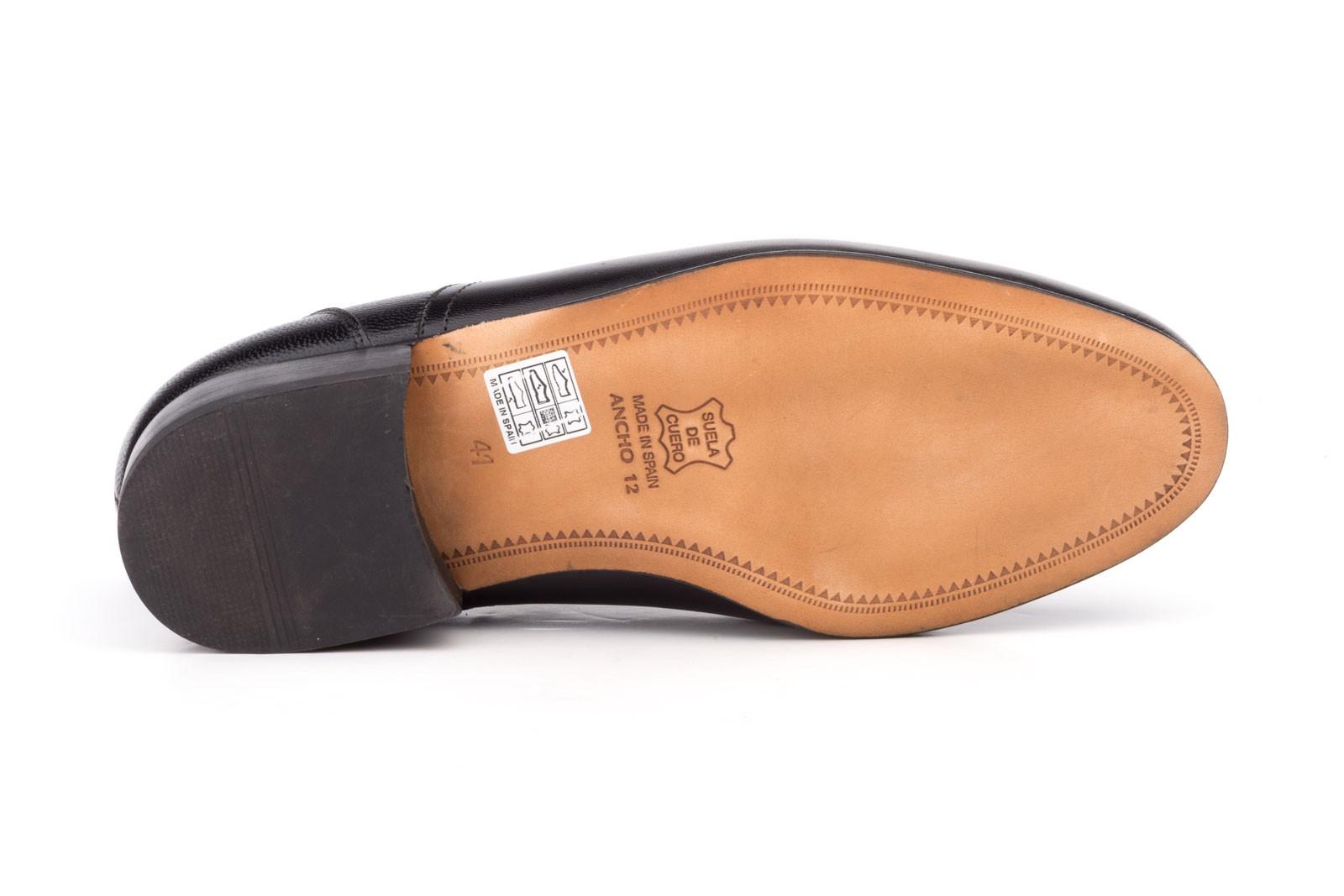 Derby Hombre Piel Ancho Zapatos Suela Cuero 12 SzUMqVpG