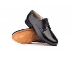 Zapatos Hombre Piel Negro Suela de Cuero Ancho 12 Nikkoe NIKKOE-114759,50€