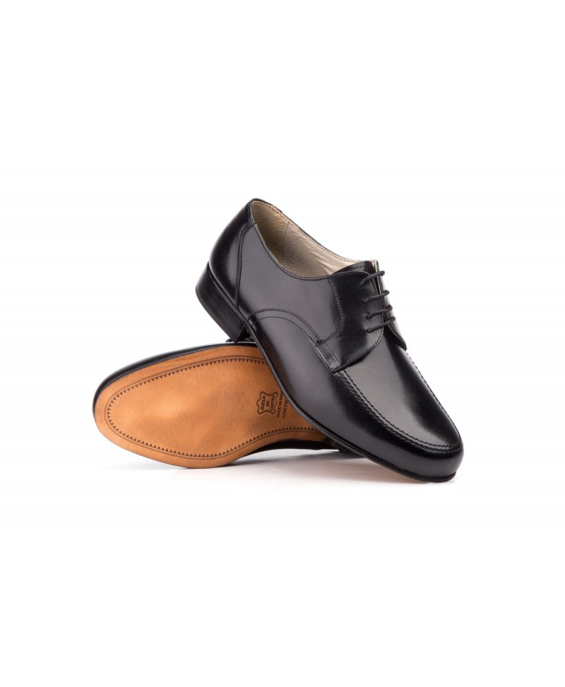 Cuero Piel Suela 12 Derby Zapatos Hombre Ancho W9HDIE2