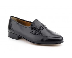 Black Leather Men's Loafer Shoes Nikkoe Leather Sole NIKKOE-16559,50 €