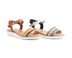 Sandals Women Leather Leather Black Silver JAM JAM-737039,90 €