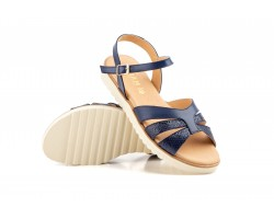 Women Sandals Navy Leather Floor Flat Eva Sizes Large JAM ZANCADAS-2050P-XXL53,90 €
