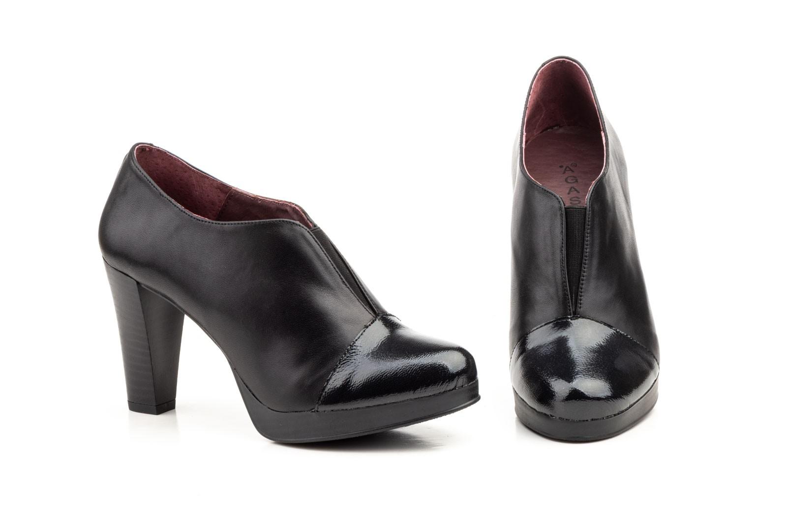 Shoes Seta Agatha Zapatos Mujer Negro Piel XRU68Uxwq