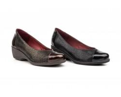 Zapatos Mujer Piel Negro y Marrón Annora ANNORA-84249,00€