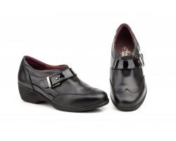 Zapatos de Mujer Piel Negra Cuña Baja ANNORA-841 49,90€