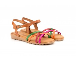 Women's Sandals Multicolor Leather Buckle 13152-MULTI39,90 €